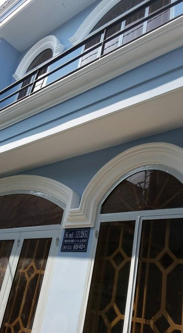 Nhà bán đường Phạm Văn Chiêu p14 Gò Vấp, dt: 4,5m x 6 đúc 1 trệt 1 lầu, giá: 1.1 tỷ