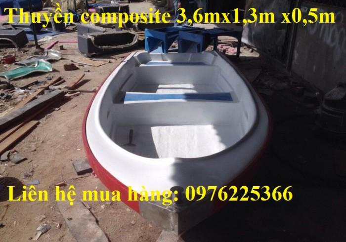 Thuyền composite 3,6m x 1,3m x 0,5m