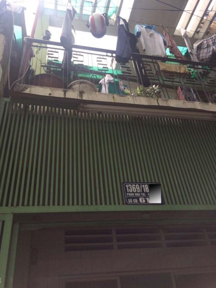 Nhà Hẻm 1369/18 Phan Văn Trị, Phường 10, Gò Vấp, 4.3x14.5m, 1Trệt+ 1 lầu, 2PN, Đông Bắc, Hẻm Thông