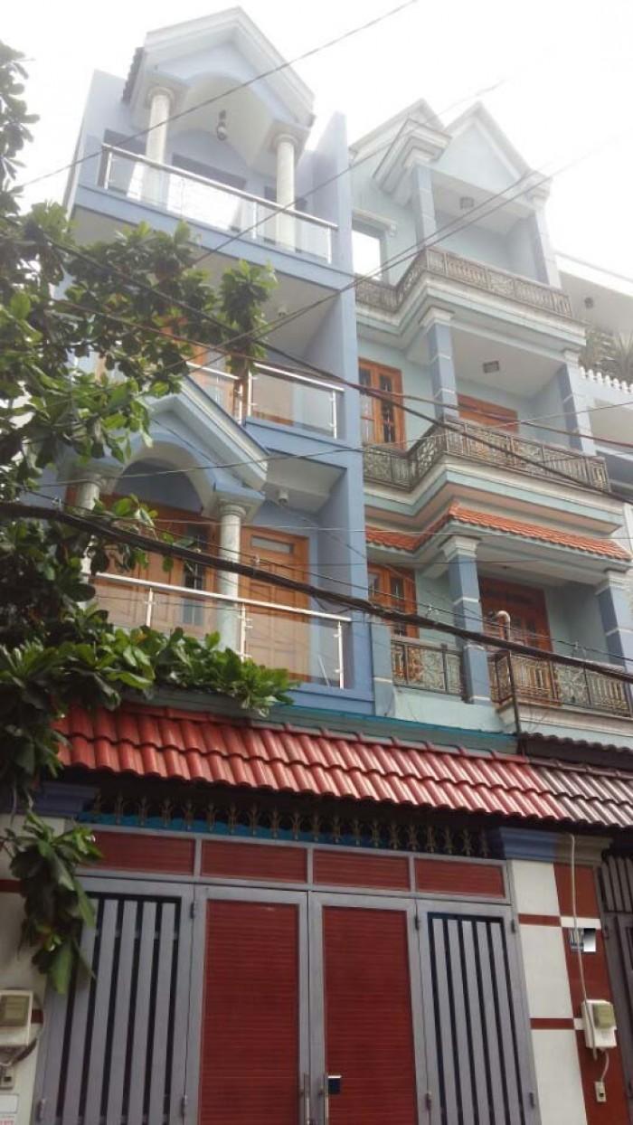 Nhà Hẻm 114  Phạm Văn Chiêu, Phường 9, Gò Vấp, HXH 5m Thông, 4x17m, 1trệt+1Lửng,2Lầu, 4PN,5WC, Tây Nam
