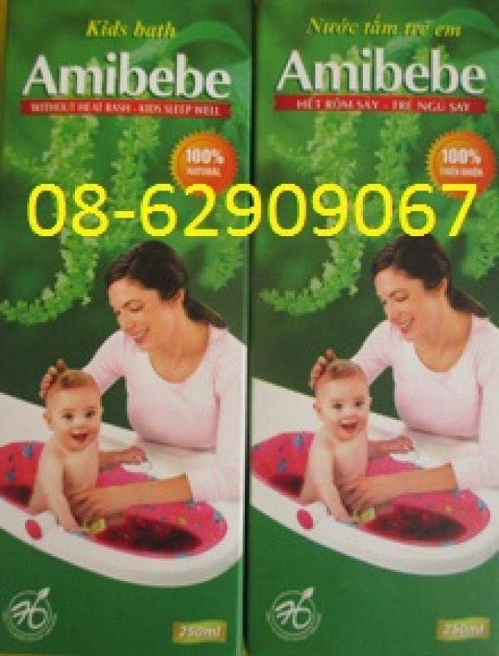 NƯỚC TẮM AMIBEBE- Giúp em bé hết rôm sảy, ăn ngon, ngủ ngon0