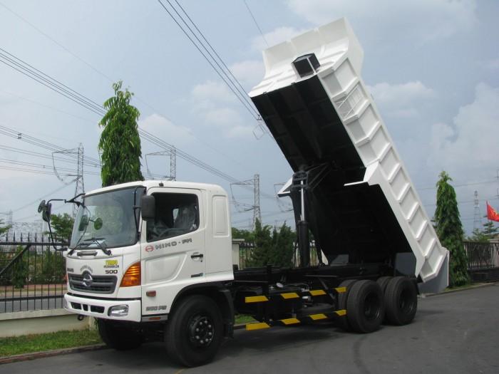Bán xe ben Hino FM8JNSA lòng thùng ben dài 5m, thể tích 10m3