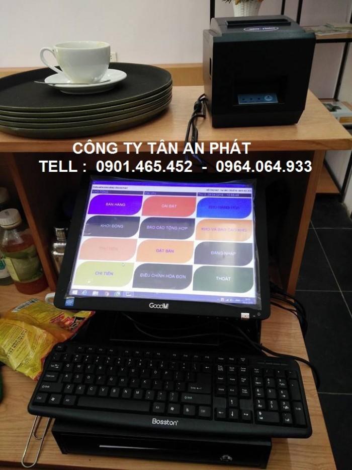 Máy tính tiền cảm ứng chuyên dùng cho nhà hàng cafe0