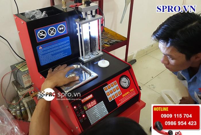 Máy súc béc, súc rửa vệ sinh kim phun xăng điện tử Titano T2Cplus 0