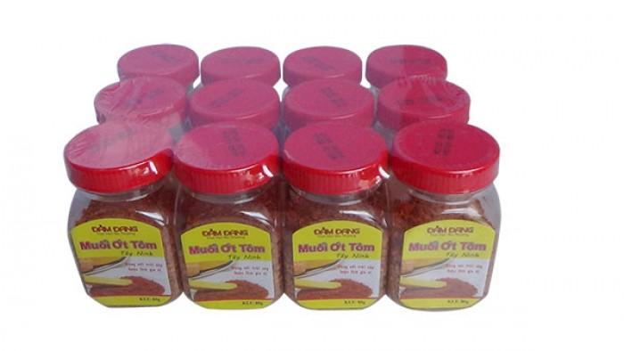 Muối ớt tôm Tây ninh - Đảm Đang dùng làm gia vị cho các món ăn thêm đậm đà