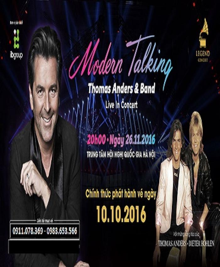 Bán vé đêm nhạc Moderm Talking ngày 26/11/2016 tại Hà Nội