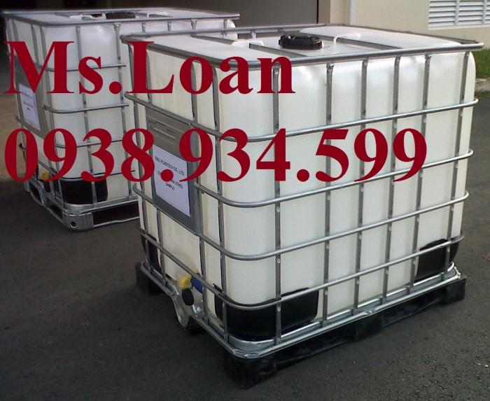 Bán bồn nhựa đựng hóa chất 1000 lít,bồn nhựa IBC 1000 lít,tank nhựa IBC 1000 lít1