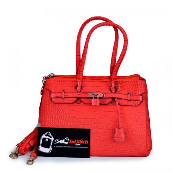 Balo Túi Xách may gia công mẫu Túi xách nữ thời trang màu đỏ dành cho các bạn gái trẻ trung
