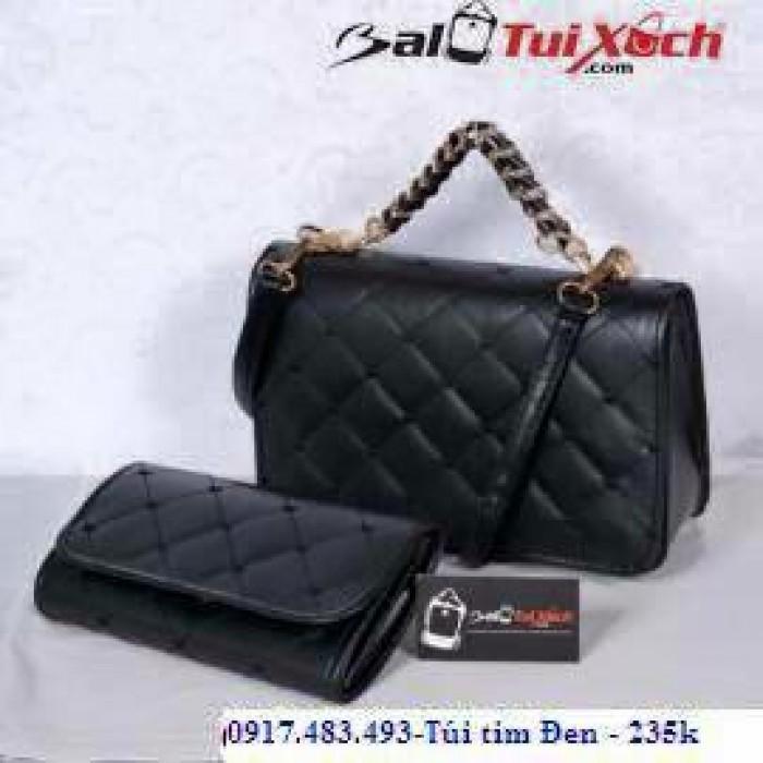 Túi xách đen nhỏ gọn, sang trọng thích hợp cho các bạn nữ dự tiệc, 2