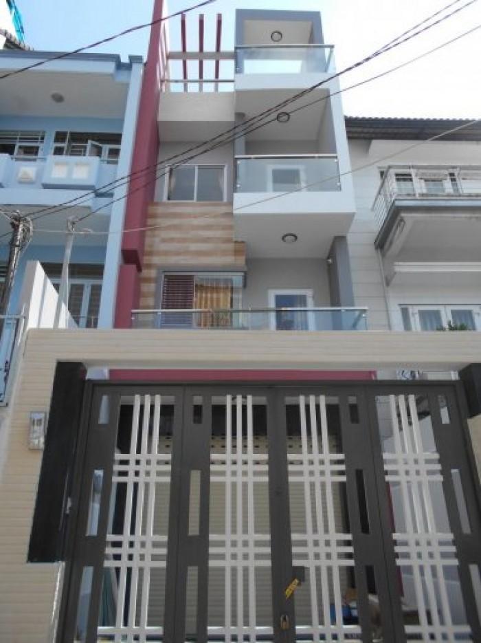 Bán nhà mới 100% mặt tiền Dân Trí, P6, Tân Bình, 4x35m, 3 lầu