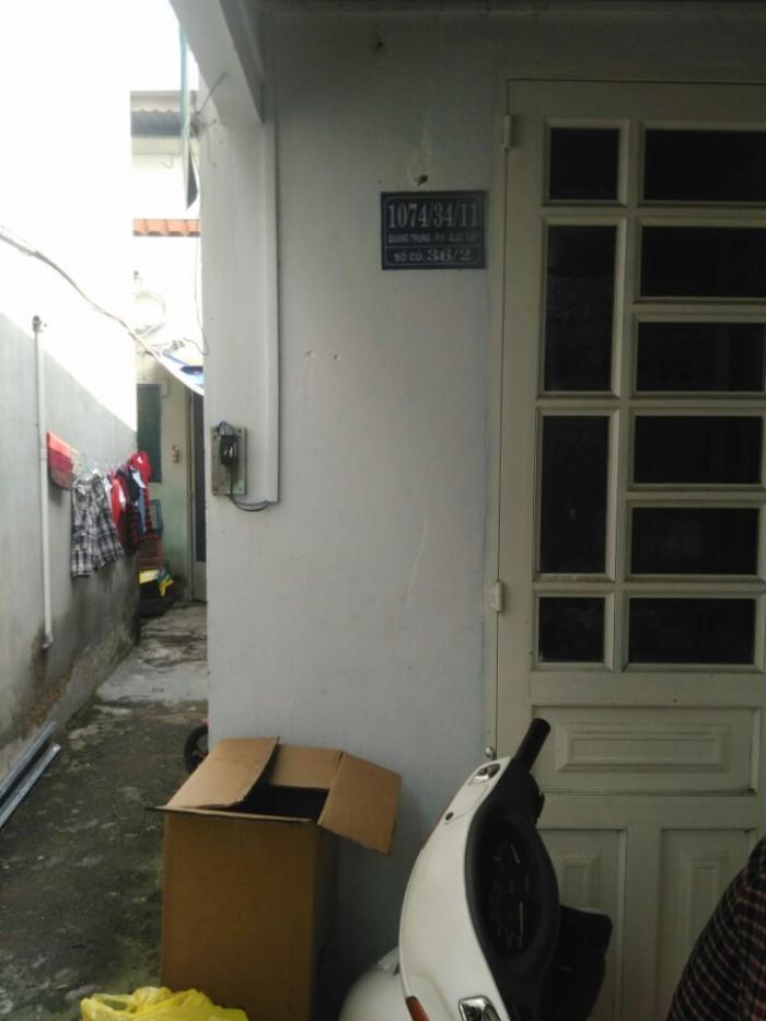 Nhà Bán 1074/34/11 Quang Trung, Phường 8, Gò Vấp, Hẻm 3,5m, 5x16m, Cấp 4, Tây Nam