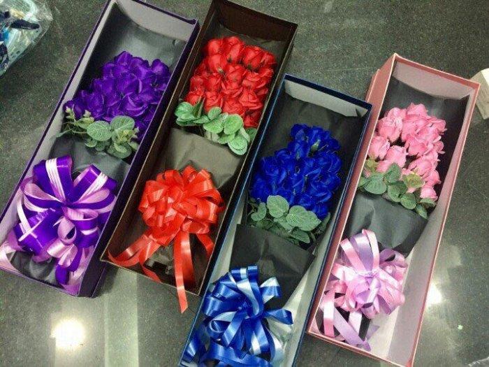 Hộp quà tặng hoa hồng sáp thơm bông đại0