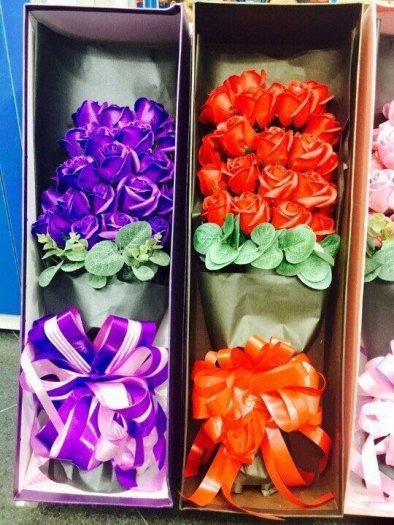 Hộp quà tặng hoa hồng sáp thơm bông đại3
