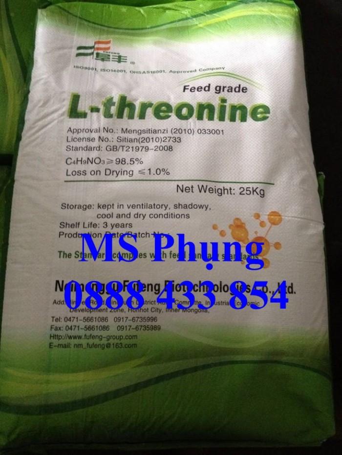 L-THREONINE, L-THREONINE, chất Kích thích sự tăng trưởng của vật nuôi, Giảm hàm lượng Nitơ trong phân, mới 100%