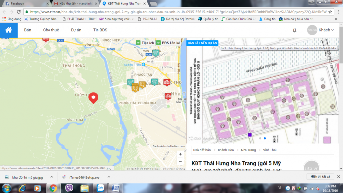 Bán đất KĐT Thái Hưng – Nha Trang giá tốt