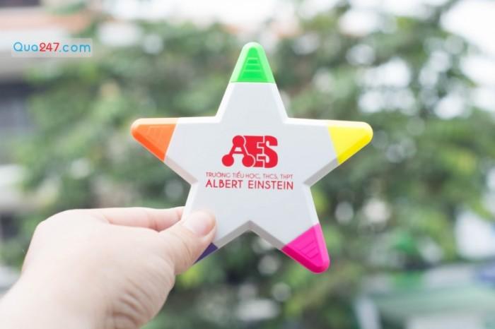 Bút dạ quang hình ngôi sao 5 cánh in logo quảng cáo  quà tặng siêu dễ thương sll giá tốt