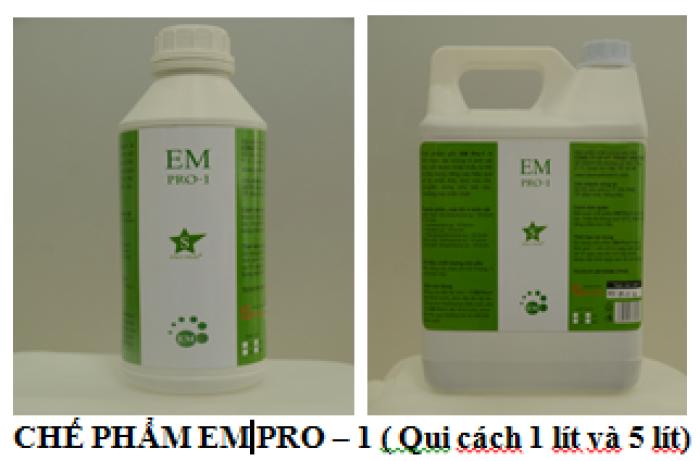 EM PRO-1 là chế phẩm chuyên dụng dùng để xử lý mùi hôi rác thải và chuồng trại.