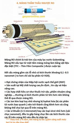 Máy lọc nước gia đình usa 5 cấp có tủ cường lực