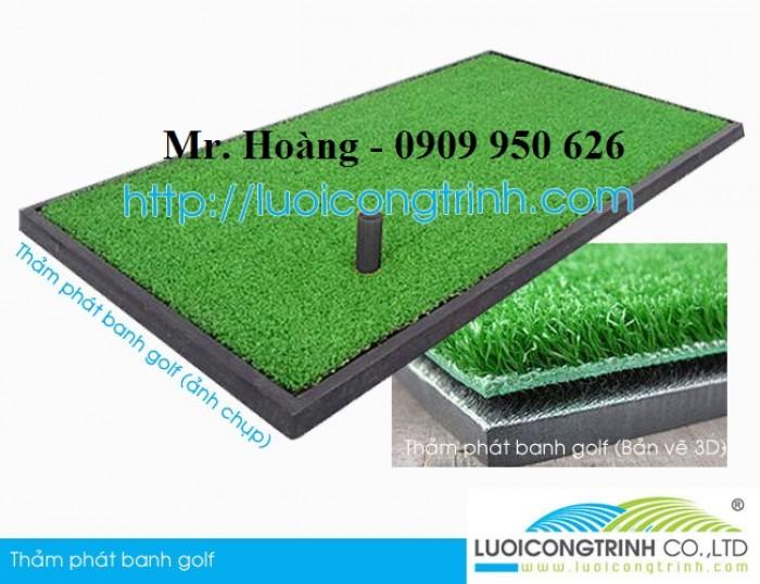 Máy phát banh, thảm phát banh, cỏ golf, lưới golf