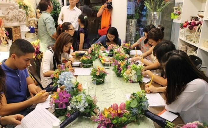 Học cắm hoa tươi tại cần thơ, kiên giang, cà mau, bến tre, long an, an giang