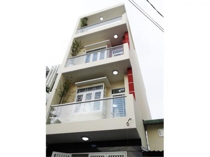 Bán nhà HXH, Tô Hiến Thành, P14, Q10, DT 3x22m, 1 trệt 3 lầu, có sân trước sau.