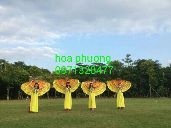 Trang phục biểu diễn dân tộc áo dài âu lạc hoa phượng bình dương