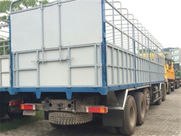 Bán xe tải DongFeng L315 (6x4) mới, màu vàng, có thùng 1