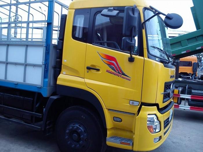 Bán xe tải DongFeng L315 (6x4) mới, màu vàng, có thùng 2