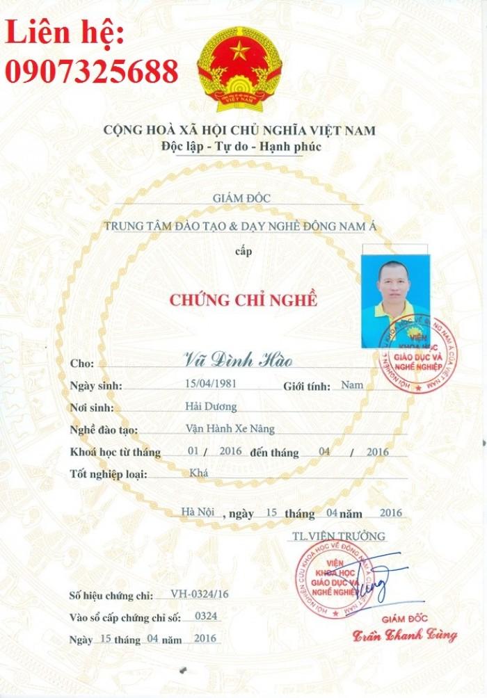 Dạy nghề, Cấp chứng chỉ xe nâng tại Bắc Ninh