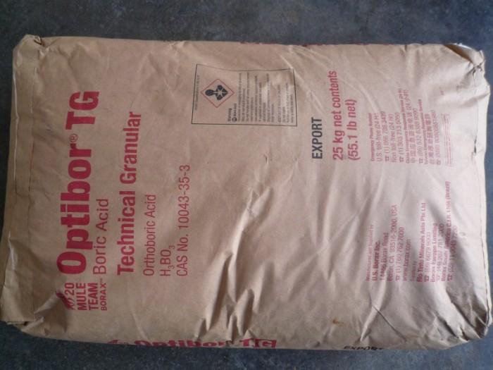 Acid Boric, H3BO3, chất dùng để sản xuất Xi Măng,phân bón, chất bảo quản