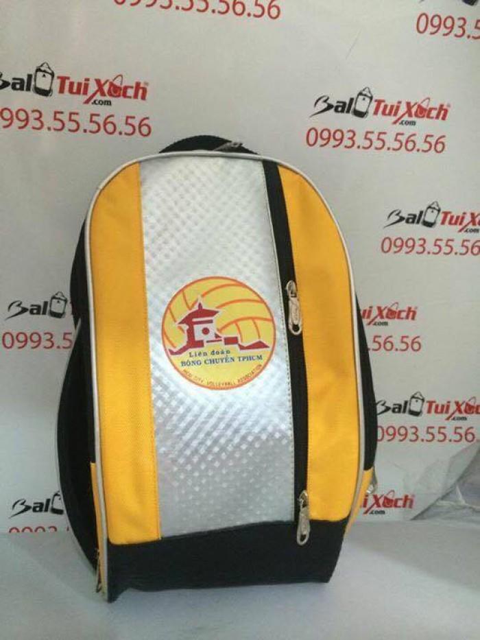 Balo túi xách thể thao phối 3 màu chủ đạo vàng - trắng - đen cho Liên đoàn Bóng chuyền Việt Nam