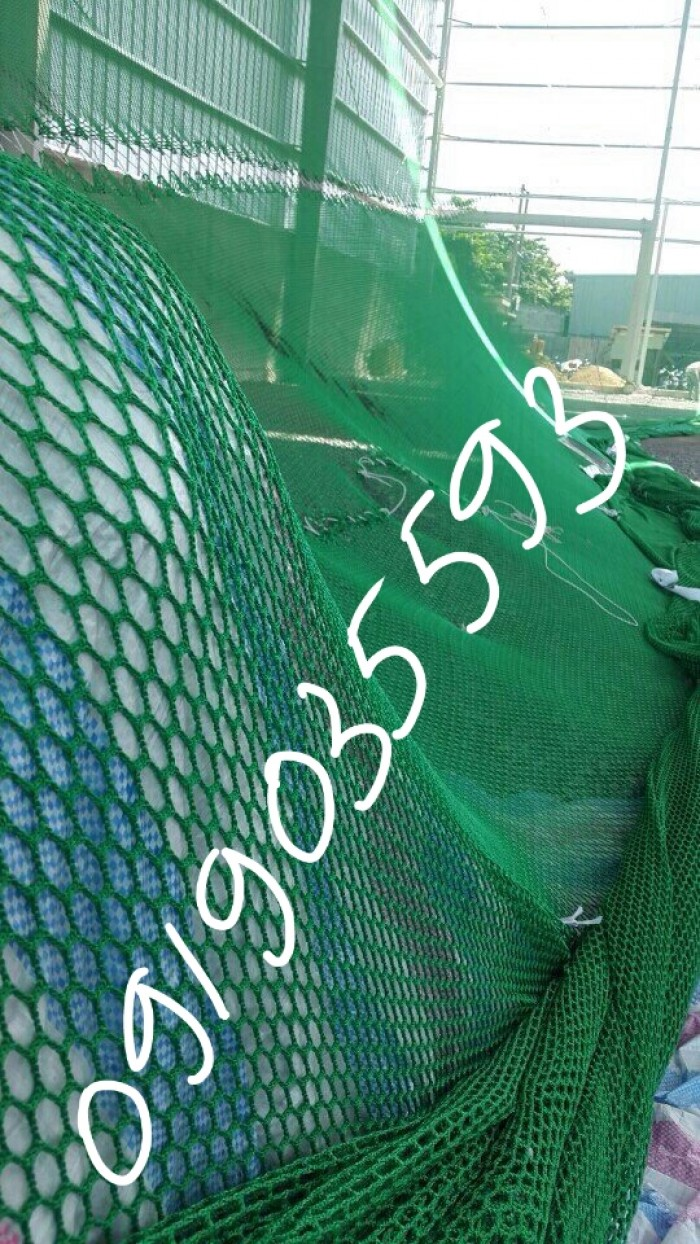 Lưới xây dựng bao che dự án công nghiệp lớn, lưới nhựa PE nguyên sinh, lưới bụi