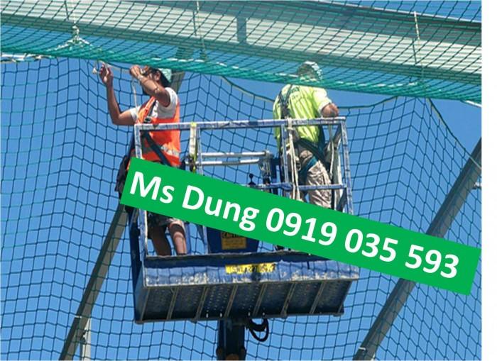 Lưới xây dựng bao che công trình lưới dù chống rơi mắt 10cm tại thanh hóa