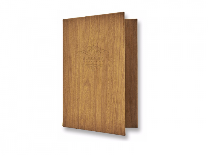 Phượng Hoàng Art nhận gia công menu bìa gỗ cho nhà hàng