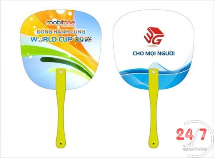 Chuyên sản xuất quạt nhựa PP in quảng cáo quà tặng doanh nghiệp số lượng lớn giá cực tốt