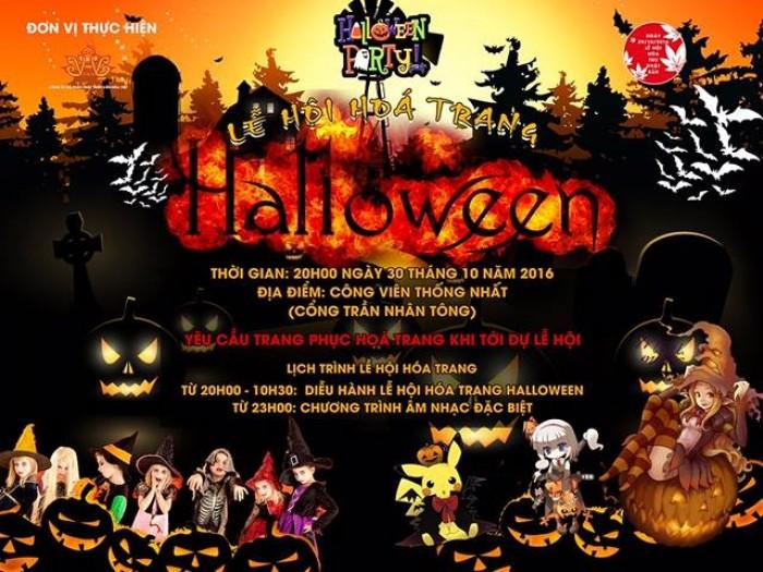 Mua vé lễ hội hóa trang Halloween 2016 ở đâu Hà Nội?