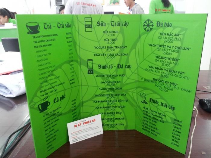 In menu, in thực đơn cho quán cafe tại TPHCM | Loại hình in: in menu, in thực đơn PP b...
