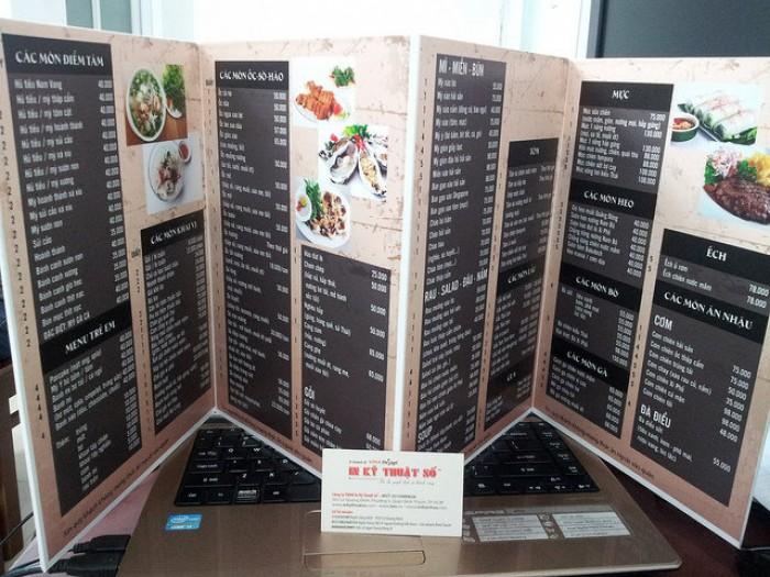 In thực đơn, in menu giá rẻ tại Bình Thạnh