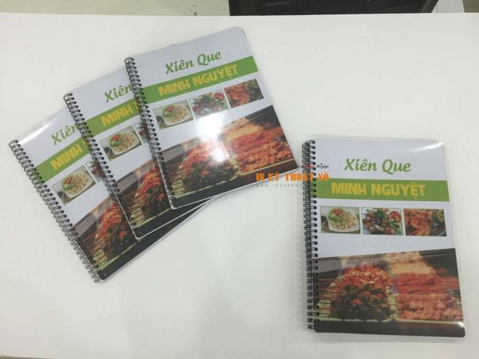 In menu nhà hàng, in thực đơn nhà hàng, quán ăn Xiên Que | Loại hình in: in menu bìa...