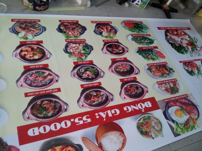 Làm menu giá rẻ, đẹp, giao hàng nhanh tại TPHCM