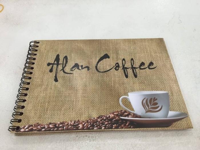In menu cafe, quán cà phê rẻ đẹp, in số lượng ít từ 5 - 10 cuốn tại TPHCM