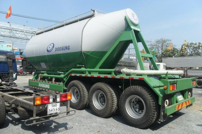 Sơmi rơmooc tải (chở xi măng rời) Doosung 33 tấn mới 100%, giá 570 triệu 1