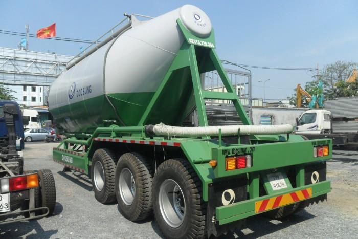 Sơmi rơmooc tải (chở xi măng rời) Doosung 33 tấn mới 100%, giá 570 triệu 2