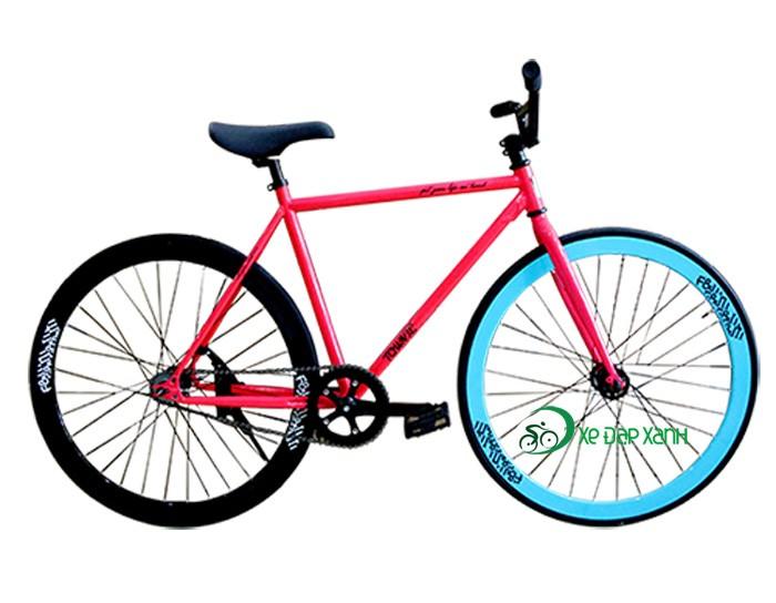 Xe đạp không phanh Fixed Gear F&m Màu Hồng, Hàng Nhập Khẩu Chính Hãng, Giá Cực Rẻ.