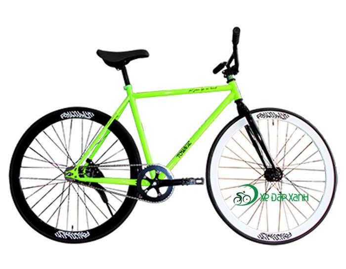 Xe đạp Fixed Gear F&m Màu Xanh Lá - Hàng Đạp Thùng Giá Rẻ
