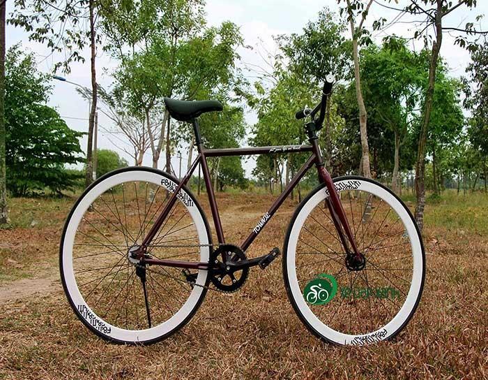 Xe đạp không phanh Fixed Gear F&m Màu Cherry Hàng Đập Thùng Chính Hãng