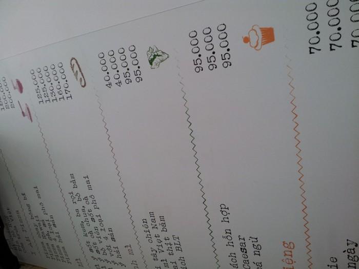 In thực đơn cho quán ăn vặt với thực đơn áp tường, thực đơn treo tường, gi�...