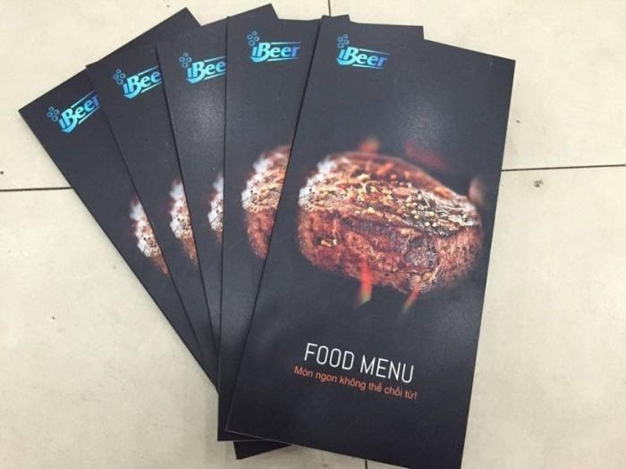 Đặt in menu cho quán nhậu, in PP bồi formex làm menu cho quán nhậu tại TPHCM