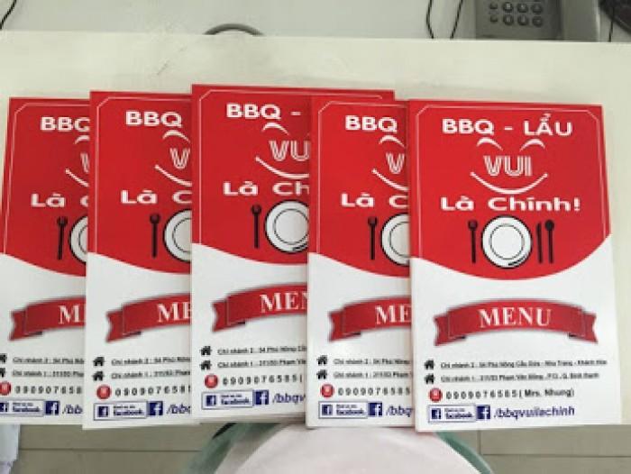 In thực đơn, menu quán lẩu, BBQ - lẩu tại TPHCM