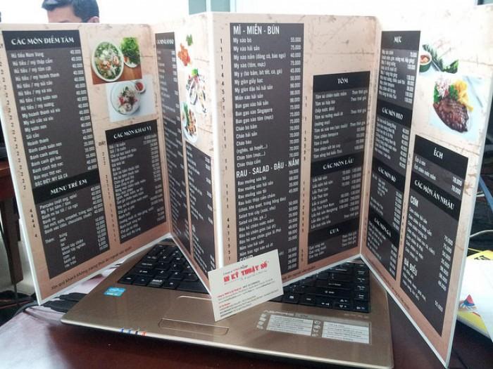 In menu cho quán ốc, in thực đơn cho quán ốc
